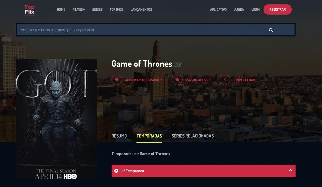 Como assistir Game of Thrones online Grátis